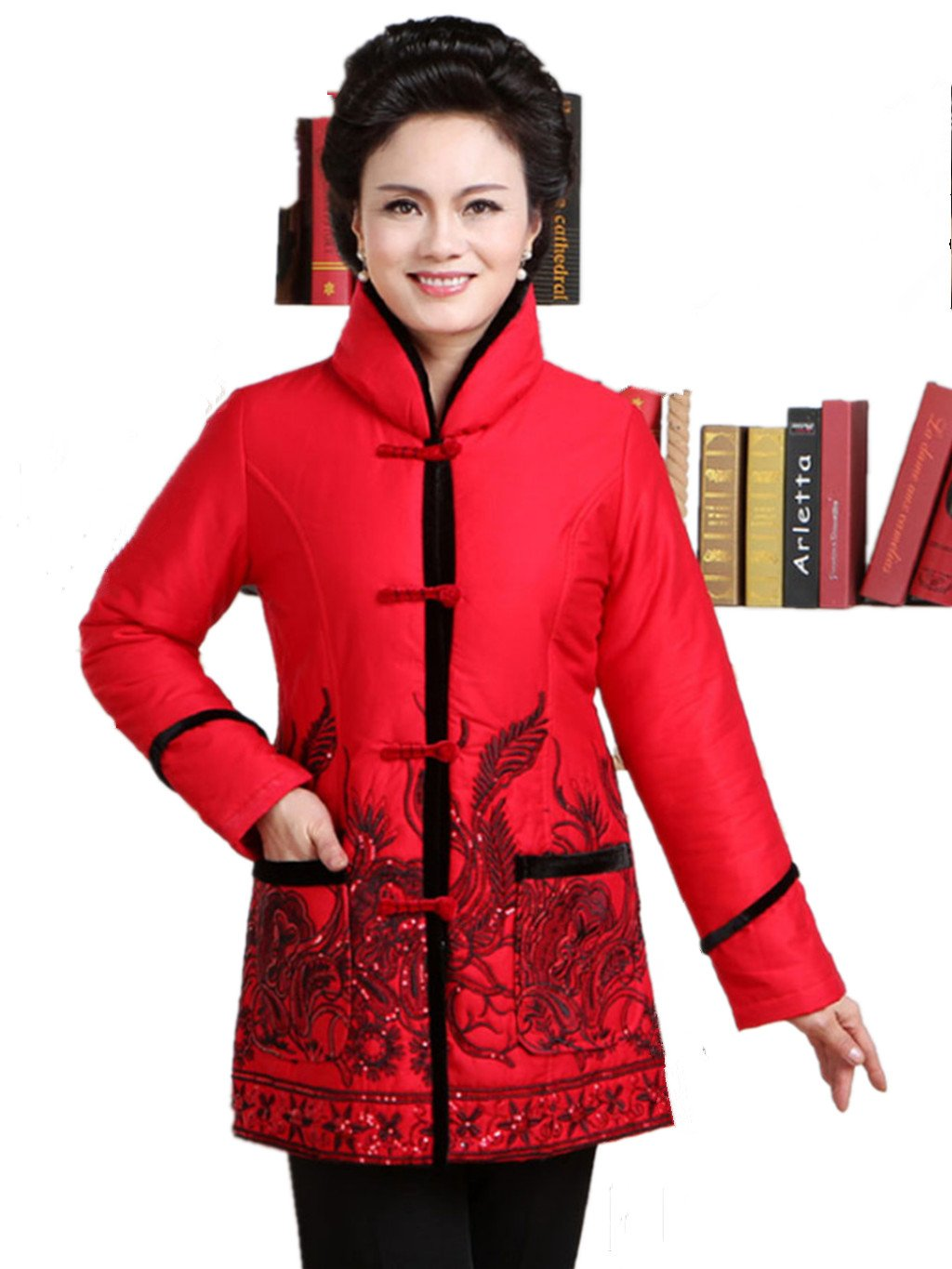 100% Cotton Womens Tang Suits Cotton-padded Jackets Jackets Business Jackets Cotton-padded Clothes