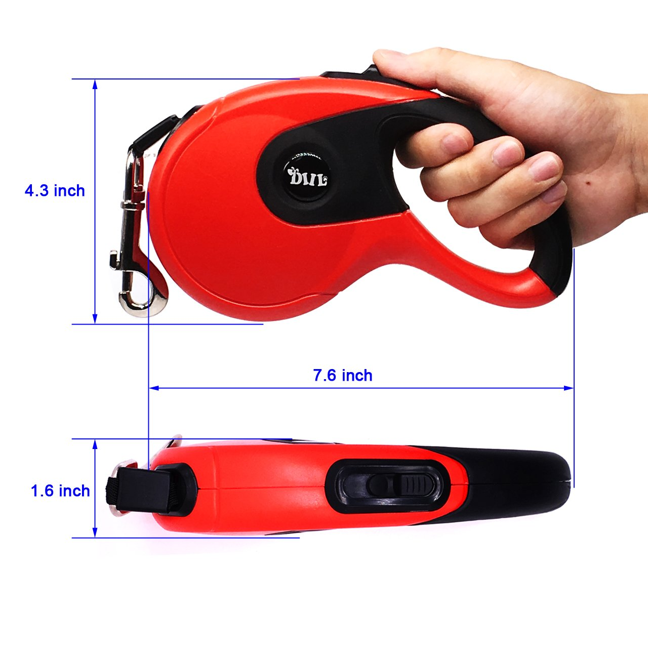COODIA Retractable Dog Leash Dog Heavy Duty Automatic Lead Rope Walking Leash for Medium Large Pet Dogs up to 85lbs Tangle Free,16Ft,One Button Break & Lock