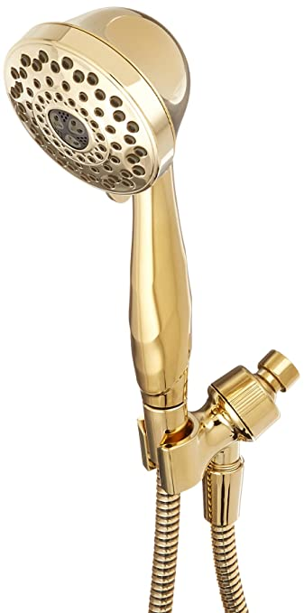 Delta Faucet 59345 PB PK Shower Mount Hand Shower, Polished Brass
