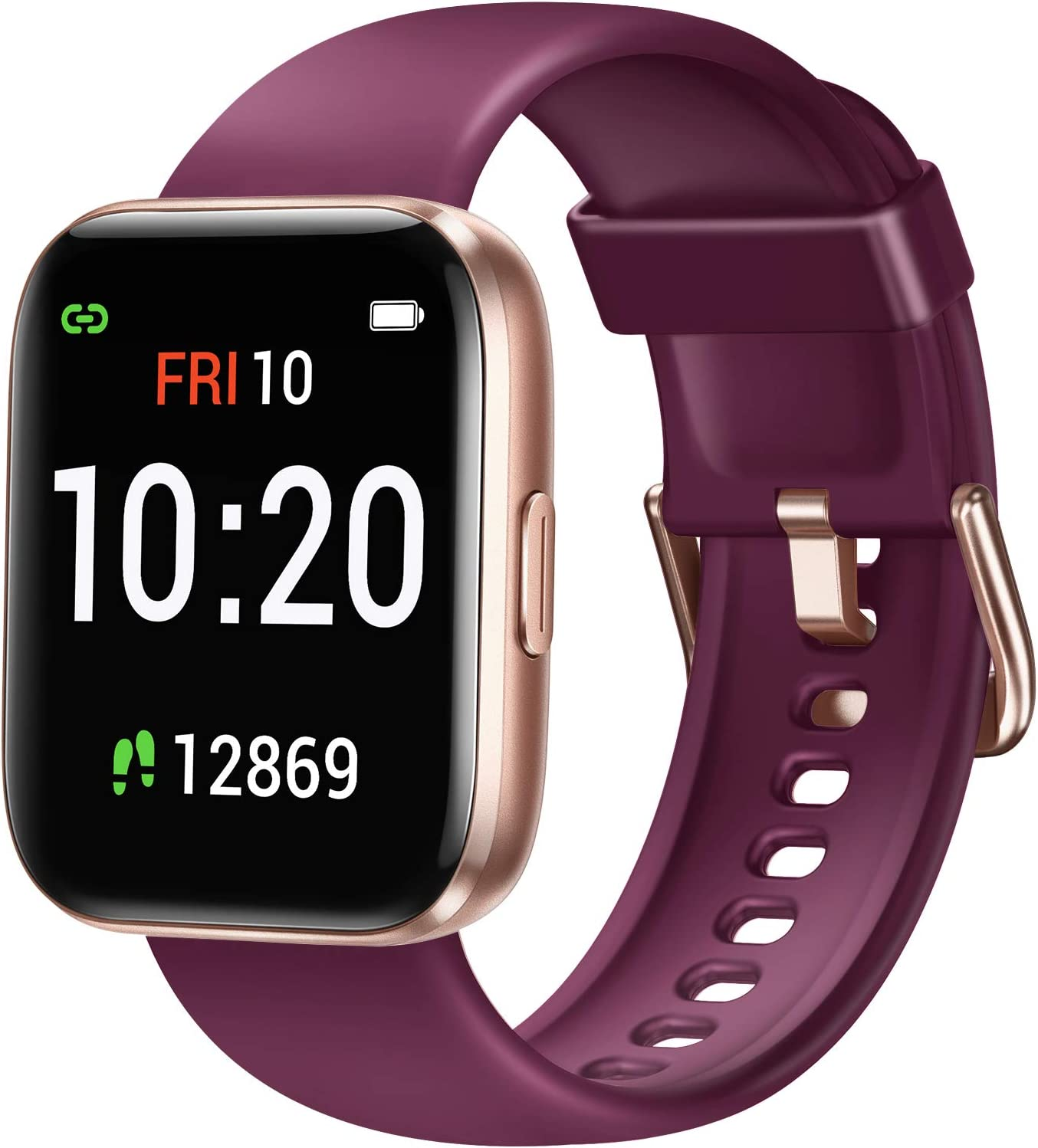 Letsfit Smart Watch for Android Phones Compatible with iPhone Samsung, Fitness Tracker with Blood Oxygen Saturation & Heart Rate Monitor, IP68 Waterproof Cardio Watch for Women Men, Purple