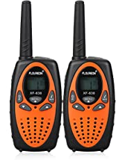 FLOUREON Walkie Talkies for Kids, 2-way Radio for Children with Long Distance Range 8 Channel Interphone for Home Communication/Festival- Orange