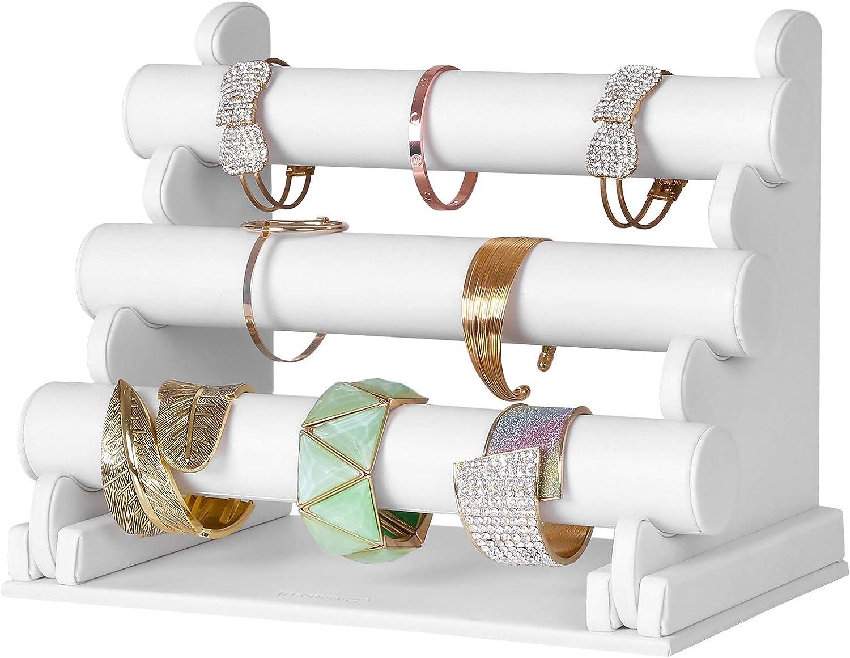 SONGMICS Pr/ésentoir Porte Bijoux Colliers Bracelets Montres