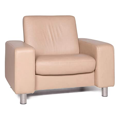 Stressless Designer Leather Armchair Beige Genuine Leather ...