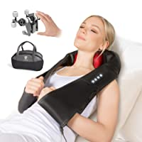 RelaxxNow NEUHEIT einzigartiges 3D Massagegerät für Schulter Rücken & Nacken, Shiatsu Wellness Ganzkörper Nackenmassagegerät & Wärme Massage wie von Hand, Entspannung Schmerz Therapie, Auto & Zuhause