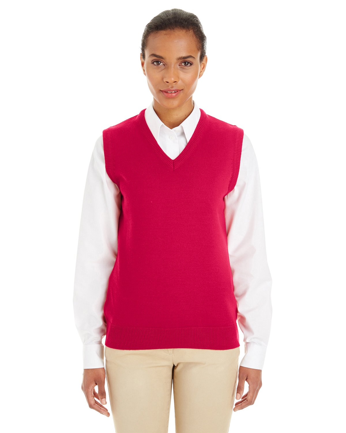 Harriton womens Pilbloc V-Neck Sweater Vest (M415W)
