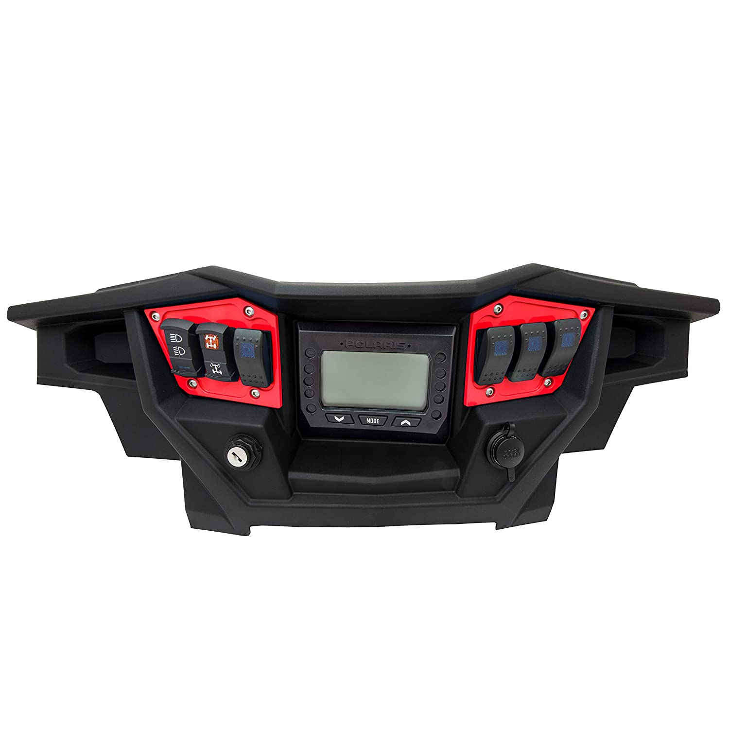 STVMotorsports SDP6GPS-FS Custom Aluminum Dash Panel for 2017-2018 Polaris RZR XP Turbo Edition with GPS Display Made 100/% in USA no switches Included Silver