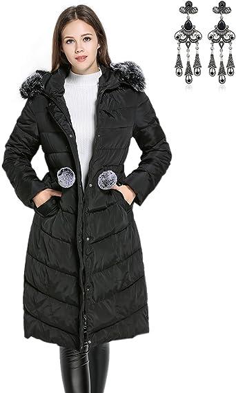 MODETREND Mujer Abrigo Chaqueta Otoño Invierno Slim Fit ...
