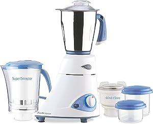 Preethi Blue Leaf Platinum 3-Jar Mixer Grinder, 550-Watt