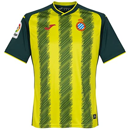 Joma RCD Espanyol Tercera Equipación 2017-2018, Camiseta, Verde-Amarillo, Talla
