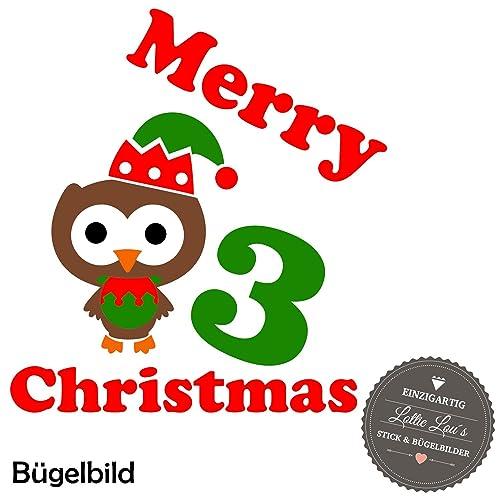 Frohe Weihnachten Glitzer.Bugelbild Aufbugler Frohe Weihnachten Merry Christmas Eule