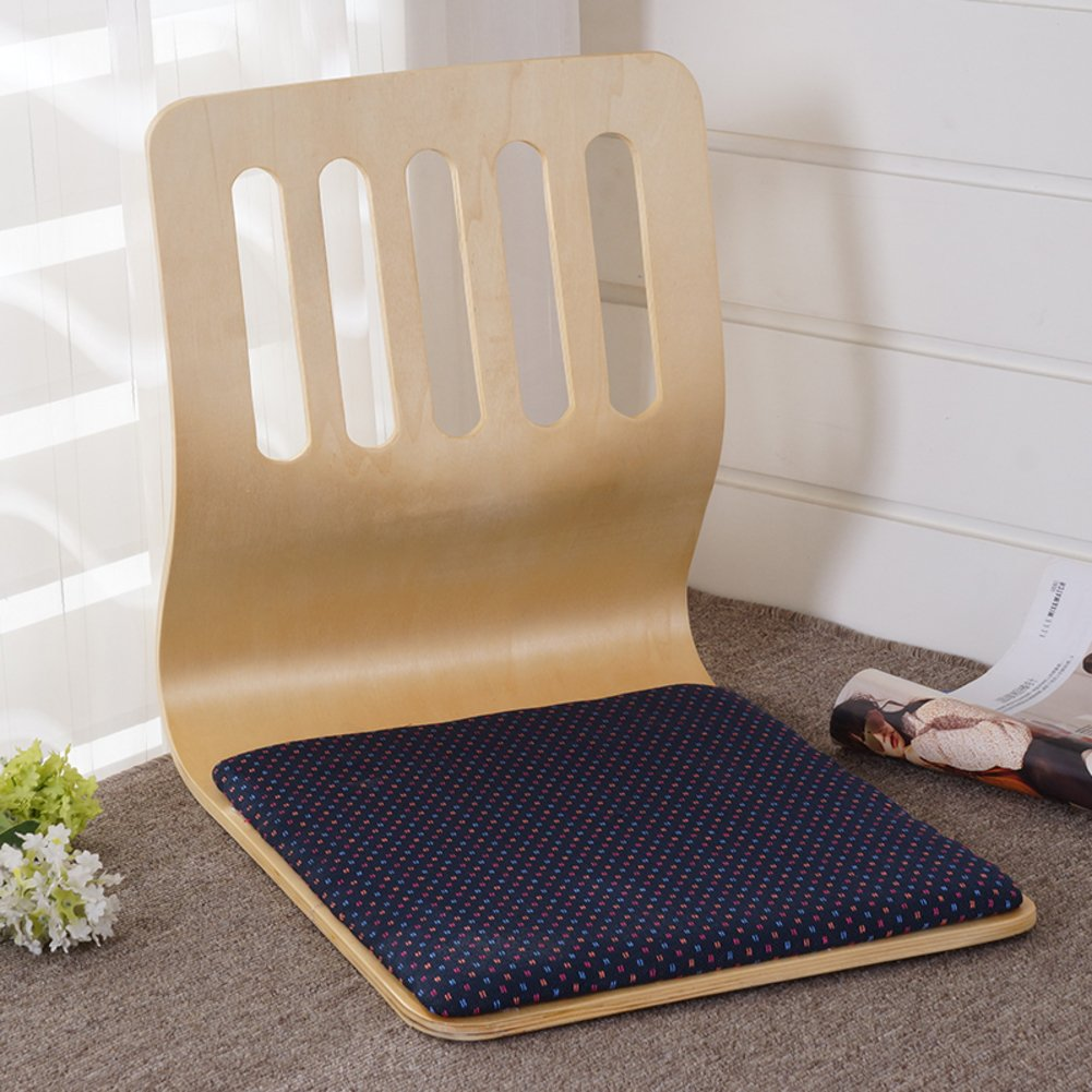 QIQ Tatami Room Chair,Bed Dormitory Back Chair Japanese Legless Chair Bay Window backrest Chair Lazy Chair Cushion-A by QIQ