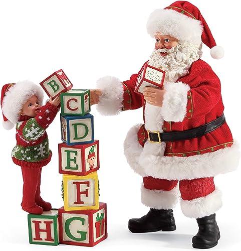 Department 56 Possible Dreams Santa Sports and Leisure Building Blocks Figurine Set, 10 Inch, Multicolor