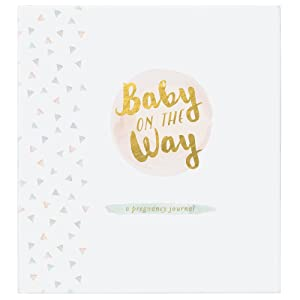 C.R. Gibson Baby On The Way Pregnancy Journal for Expecting Mothers, 7.875 W x 9.25 H, 160 Pages