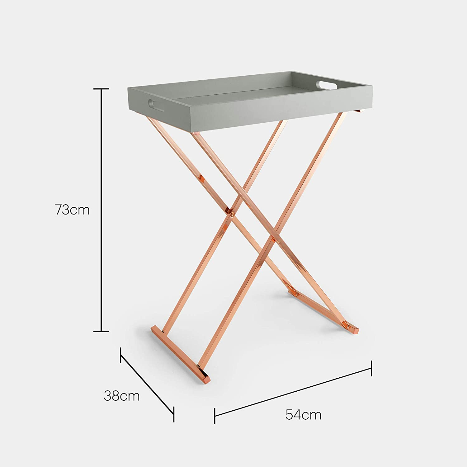 - Beautify Butlers Tray Table - Folding Side Table - Coffee Table