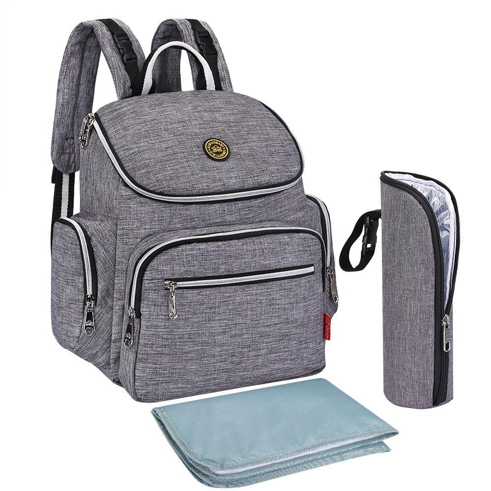 S-ZONE Multi-funci¨®n Baby Pa?al Bolsa mochila con cambio de almohadilla y port¨¢til de bolsillo aislado S-ZONE D04V846D