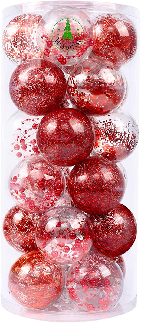 Christmas Tree Decor Glitter Ball Baubles Hanging Home Ornament Celebrations