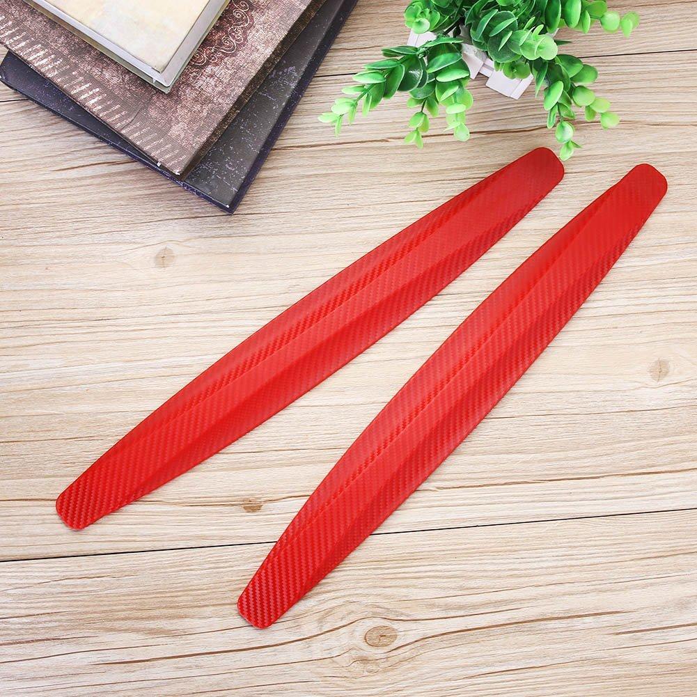 Ahomi esquina color rojo 2 tiras antiara/ñazos para parachoques de coche protector de goma