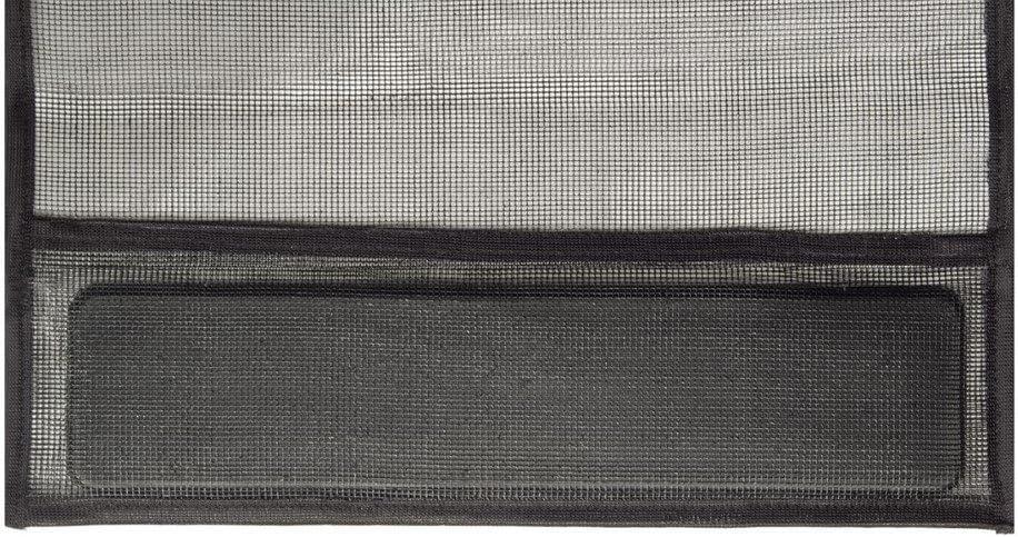 Insektenschutz T/ür Vorhang 100 x 220 cm in Anthrazit T/ürvorhang mit hochwertigen Fiberglas Lamellen /& eingen/ähten Gewichten mit ALU Klemmleiste f/ür sichere Befestigung ohne Bohren /& Schrauben