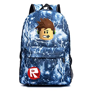 40bc13b899a1 SP Cos Roblox Schoolbag Backpack Kids Students Bookbag Handbags Travelbag  (Lighting blue 2)  Amazon.co.uk  Sports   Outdoors