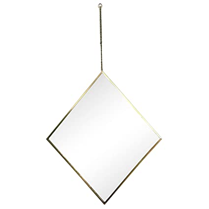 Astonishing Amazon Com Dwelling Diamond Shape Wall Hanging Mirror With Download Free Architecture Designs Osuribritishbridgeorg
