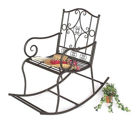Columpio de madera para silla de ruedas DY140490 de jardín de metal con forma de silla