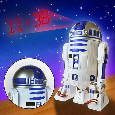 Star Wars R2D2 reloj despertador con proyector: Amazon.es: Hogar