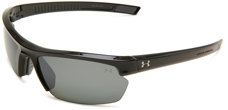 39c5537e7522 Top12: Under Armour Under Armour Stride XL Rectangle Sunglasses, Shiny  Black Frame/Gray Polarized & Multiflection Lens, One Size