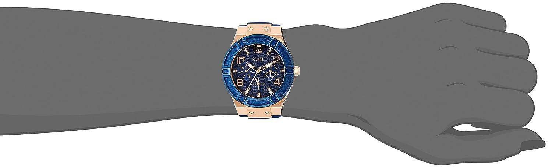 Guess damen armbanduhr analog quarz silikon w0564l1