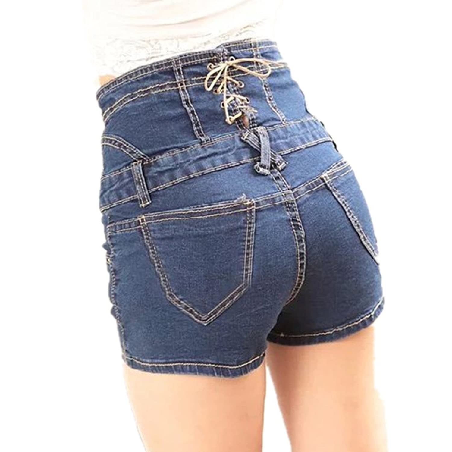 lobty sexy frauen weinlese hohe taille jeans kurz jeans denim shorts bermuda jeans shorts. Black Bedroom Furniture Sets. Home Design Ideas