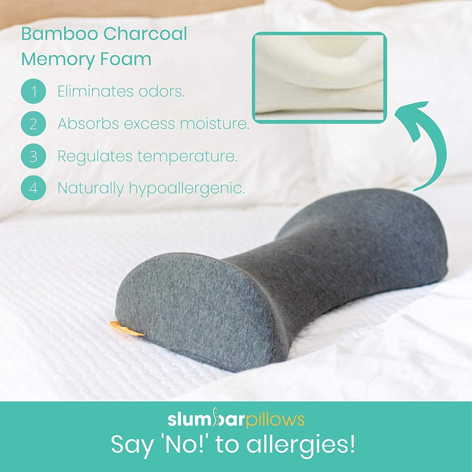High-Grade Bamboo Charcoal Memory Foam Specific User Guide Provided   Hypoallergenic Portable The Slumbar Sprout Pregnancy Pillow Official Pregnancy Pillow of American Pregnancy Association