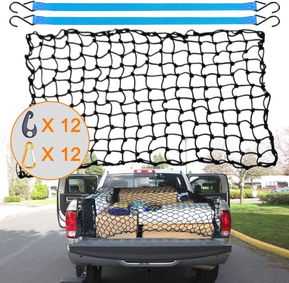 AxPower Bungee Cargo Net 4' x 6' Stretchable to 8' x 12'
