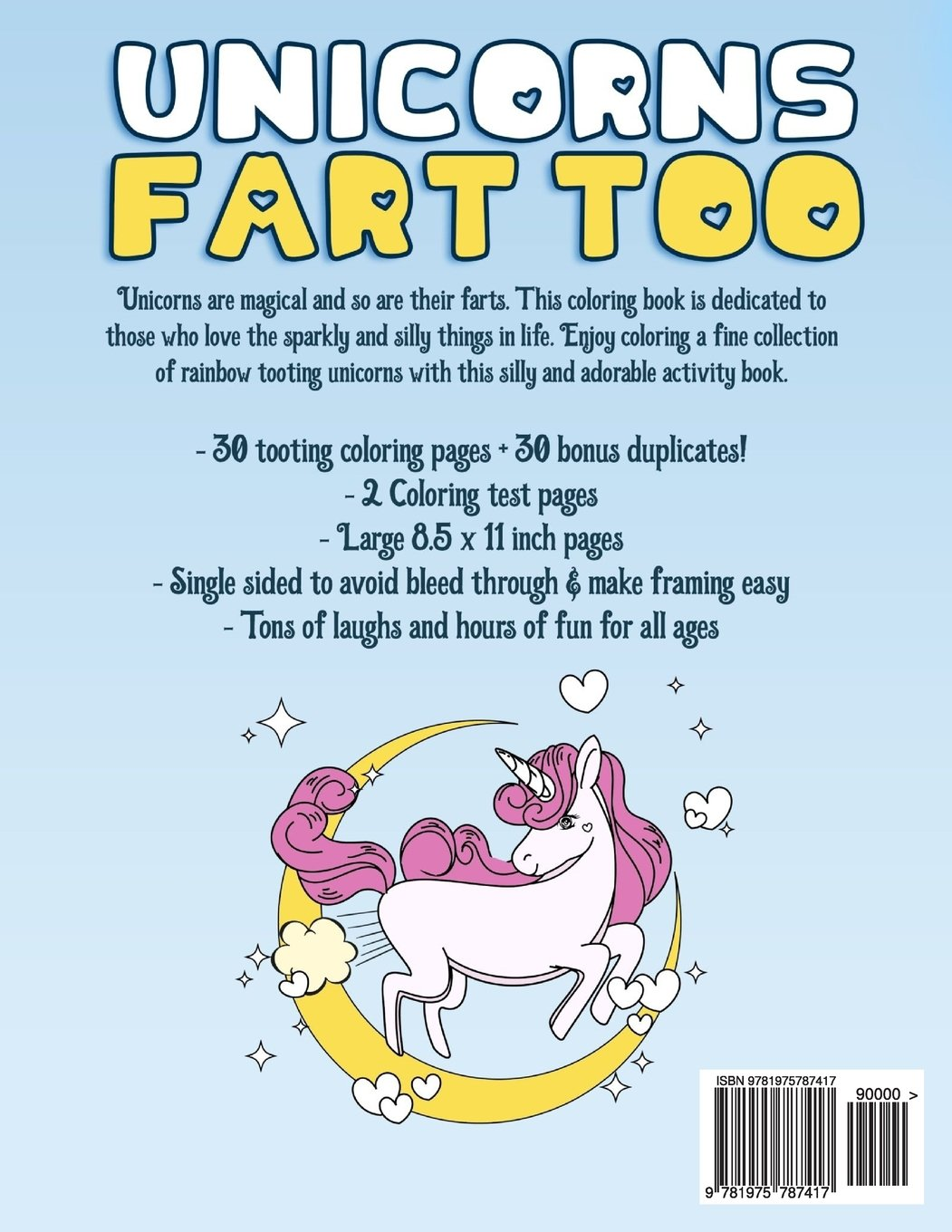 Amazon.com: Unicorns Fart Too: A Coloring Book Revealing the ...