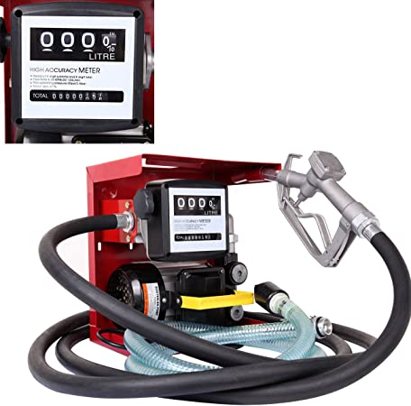 SUPERFASTRACING 110V Electric Diesel Oil Fuel Transfer Pump W//Meter 13ft Hose Nozzle Set