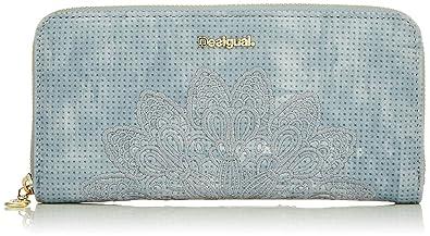 Desigual - Wallet Atila Fiona Women, Carteras Mujer, Azul (Azul Palo), 2x10x20.2 cm (B x HT)