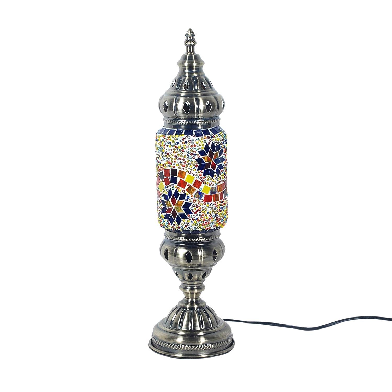 Vidal Regalos Tischlampe, Metall Glas, grau, 42 cm