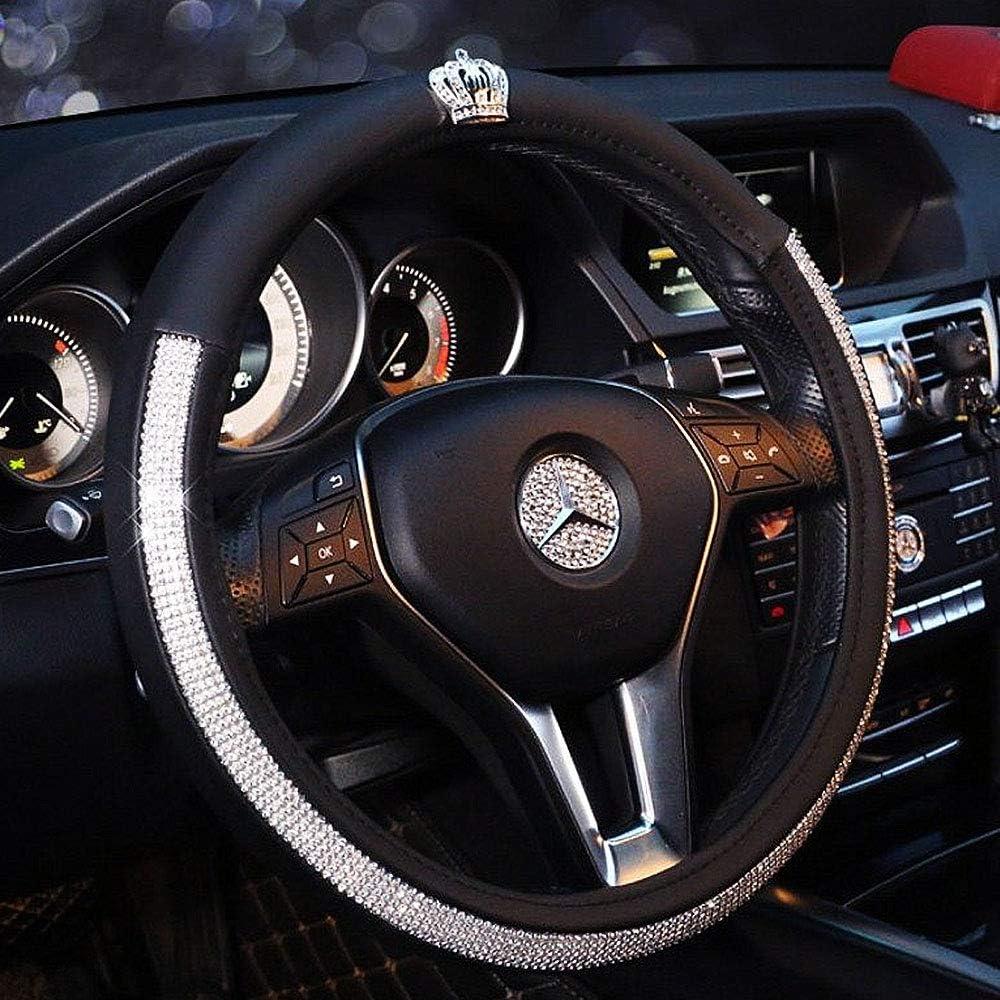 Anello decorativo con brillantini per pulsante di accensione e manopole dell/'auto anello con cristalli brillanti e adesivo decorazione per gli interni dell/'auto
