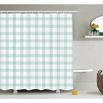Hs Plaid Duschvorhang Diagonale Linien Und Quadraten In