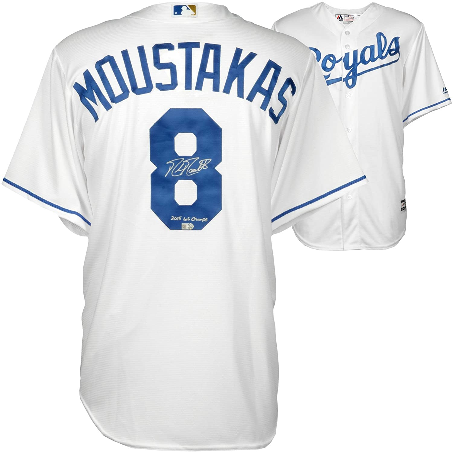 pretty nice dd40b 3d9e0 Mike Moustakas Kansas City Royals 2015 MLB World Series ...