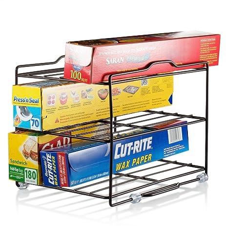 Amazon.com - Kitchen Wrap Organizer Rack - cabinet organizer for ...