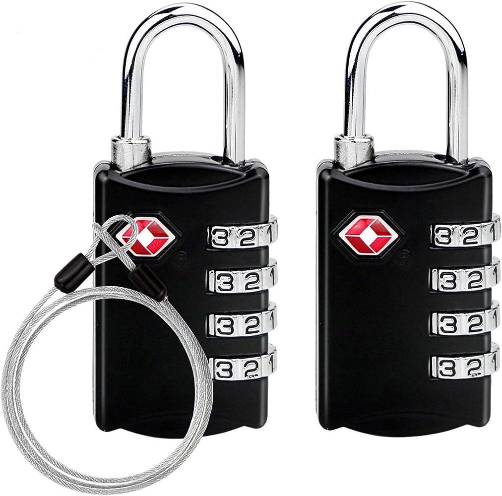 2b20c5f241 TSAロック 南京錠TSA鍵 ワイヤーロック 4桁ダイヤル式ロック 安心 防犯グッズ アメリカ