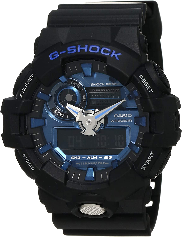 Casio GA710-1A2 G-Shock Standard Analog-Digital Men s Watch Black Blue