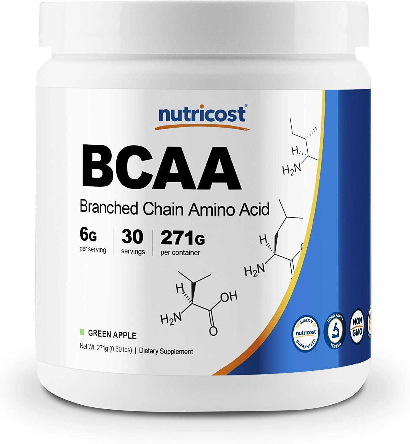 Nutricost BCAA Powder- 2:1:1 (Green Apple) 30 Servings