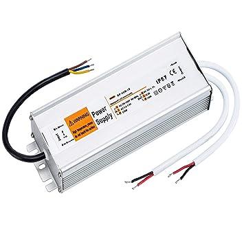 Yafido IP67 DC12V 12.5A 150W 220V Impermeable la Tira de LED Fuente de Alimentaci/ón Transformador de Potencia