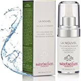 Hyaluronic Acid Serum LaNouvel Cellular Nutri Serum with Collagen / Elastin, Metabiotics Resveratrol, Peptides, Dragon's Blood & Vitamin C, 1oz Anti Aging Moisture Booster.