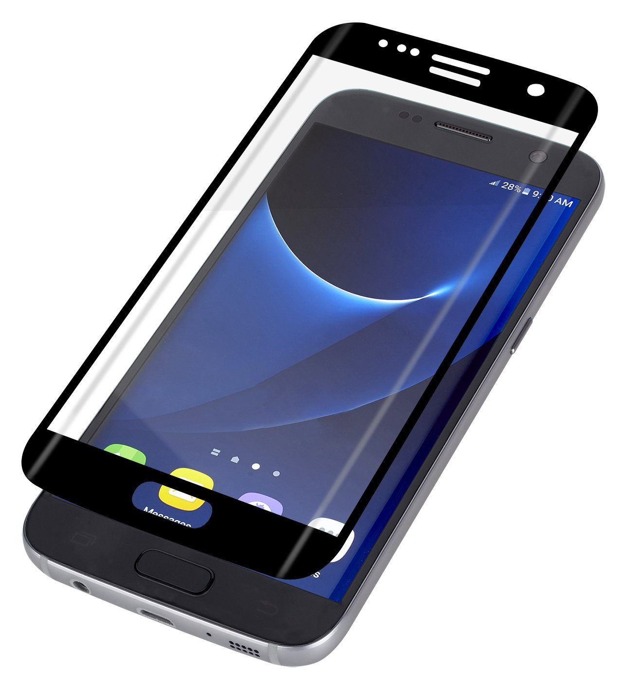 ZAGG InvisibleShield Curved Glass Screen Protector for Samsung Galaxy S7  Edge - Black by ZAGG (Image #1)
