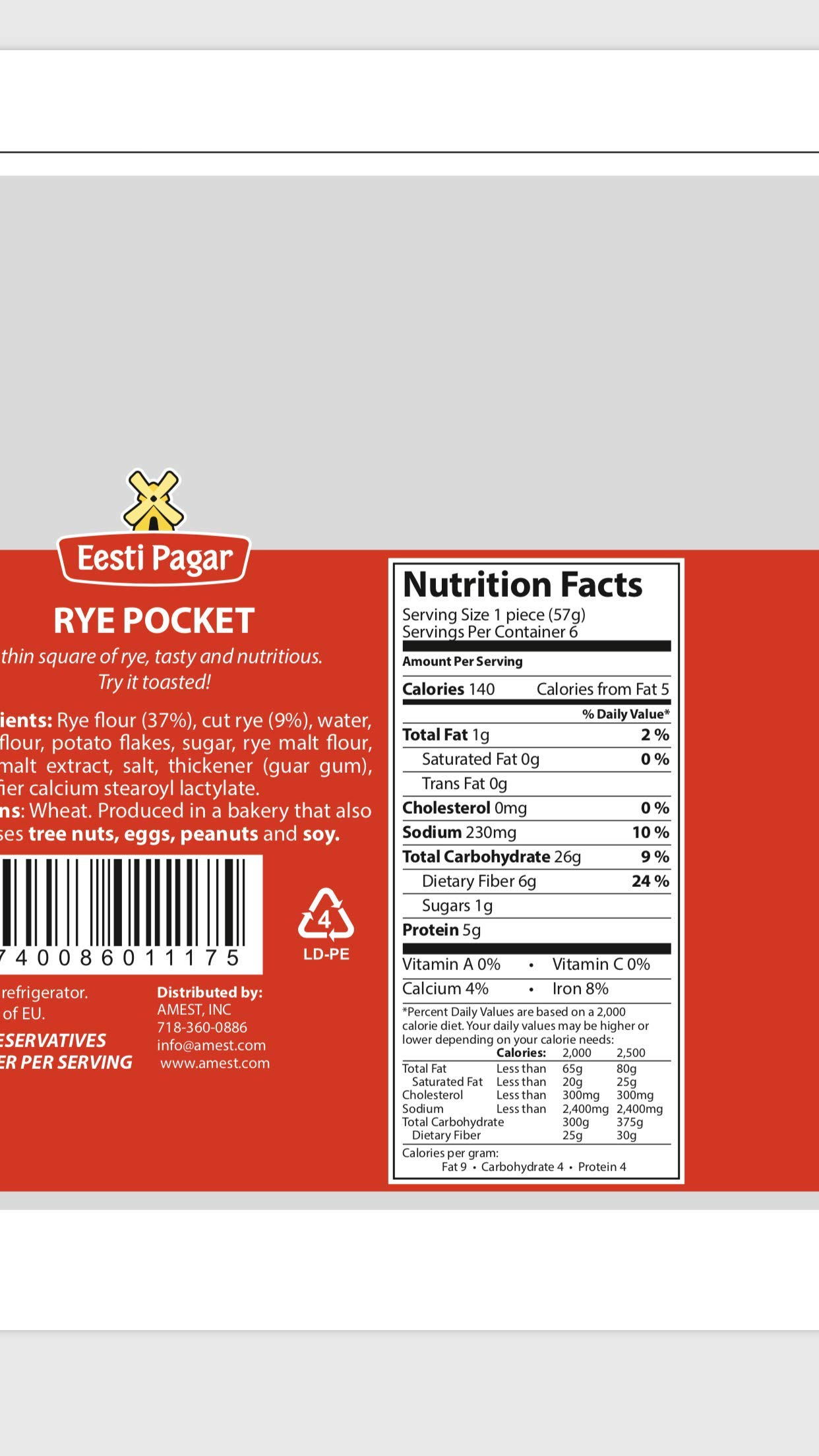 Rye Pocket, Case of 16 Packs