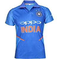 KD Cricket India Jersey Half Sleeve Cricket Supporter T-Shirt New Oppo Team Uniform Polyster Fit Material 2019-20 Kids…