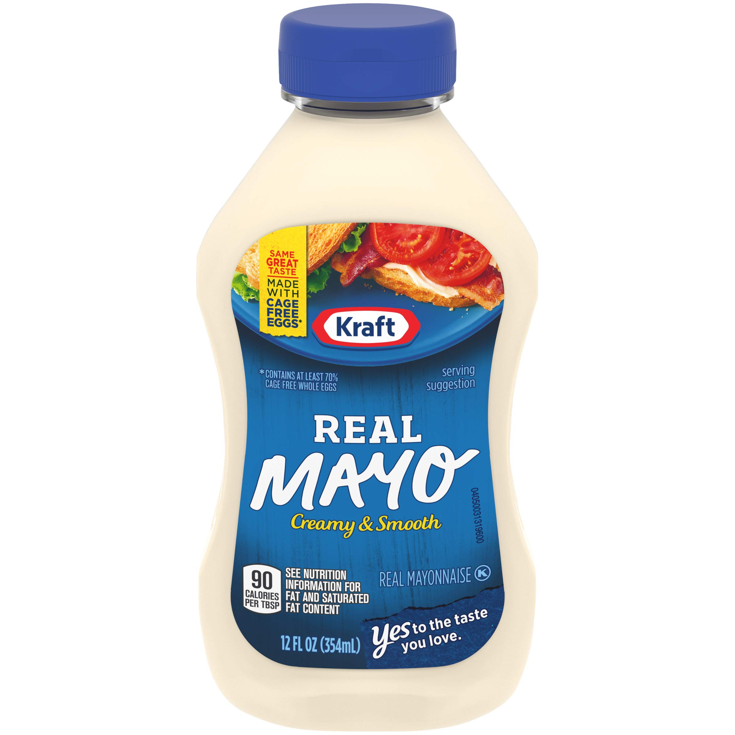 Kraft Mayo Real Mayonnaise, 12 fl oz Bottle