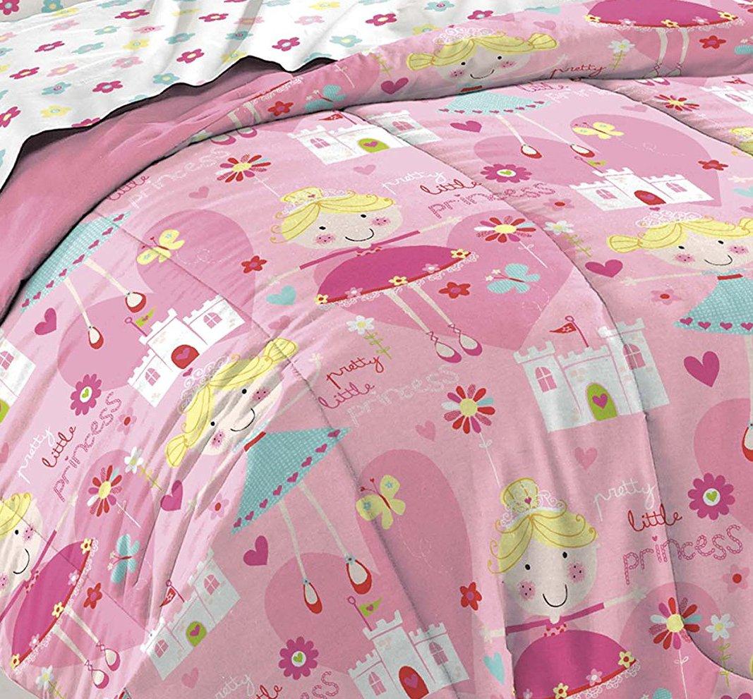 Pink Dream Factory Pretty Princess Ultra Soft Microfiber Girls Comforter Set Full
