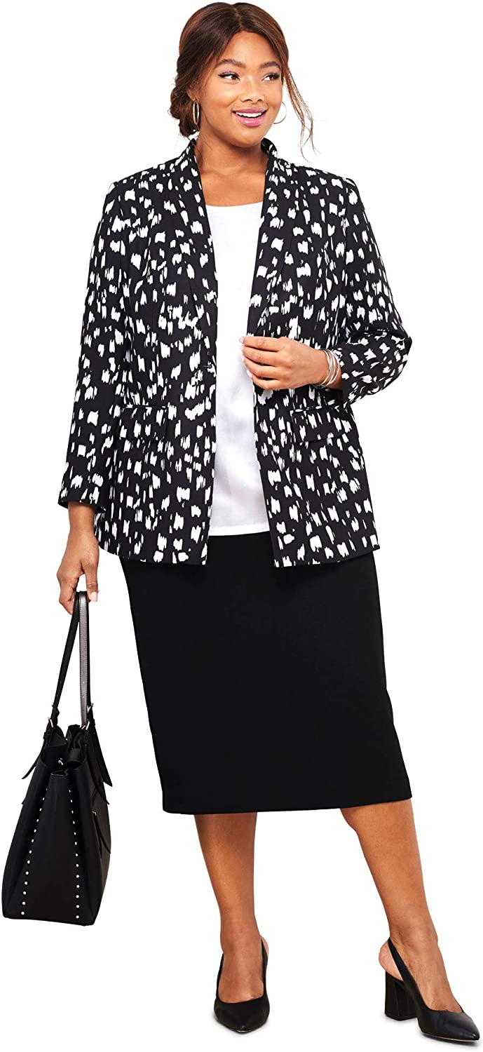 Jessica London Womens Plus Size Petite Single-Breasted Skirt Suit